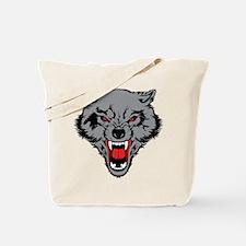 Angry Wolf Tote Bag