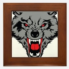 Angry Wolf Framed Tile