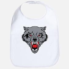 Angry Wolf Bib