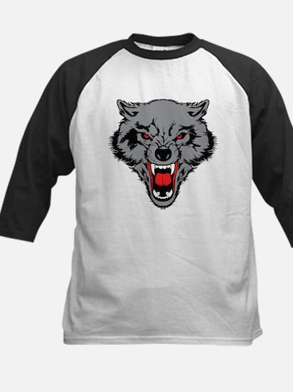 Angry Wolf Kids Baseball Jersey