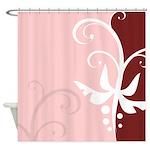 Elegant Floral Design Shower Curtain