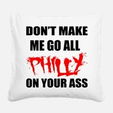 All Philly Square Canvas Pillow