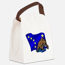 Alaskan Bear Flag Canvas Lunch Bag