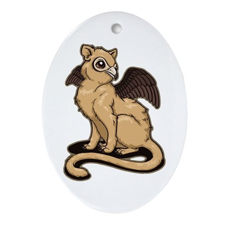Griffin Ornament (Oval)