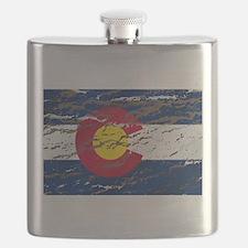 Colorado Vintage Flag Flask
