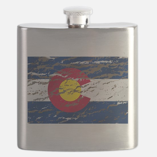 Colorado Vintage Flag Flask