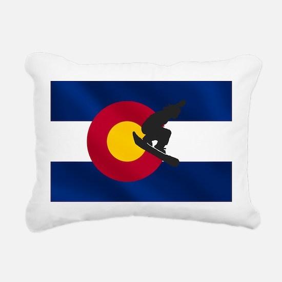 Colorado Snowboarding Rectangular Canvas Pillow