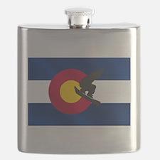 Colorado Snowboarding Flask