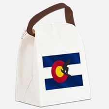 Colorado Snowboarding Canvas Lunch Bag