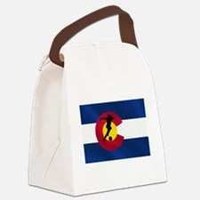 Colorado Soccer Flag Canvas Lunch Bag
