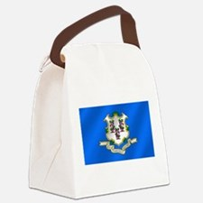 Flag of Connecticut Canvas Lunch Bag