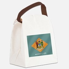 Delaware State Flag Canvas Lunch Bag