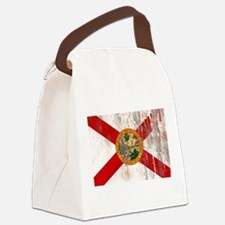 Florida Grunge Flag Canvas Lunch Bag