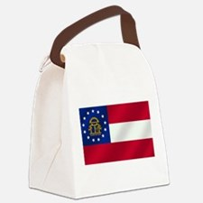 Georgia State Flag Canvas Lunch Bag