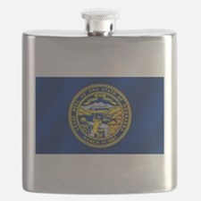Nebraska Flag Flask