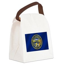 Nebraska Flag Canvas Lunch Bag