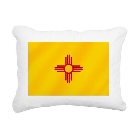 Flag of New Mexico Rectangular Canvas Pillow