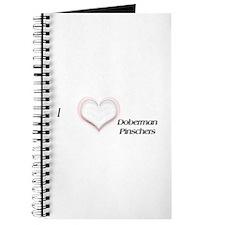 I heart Doberman Pinschers Journal