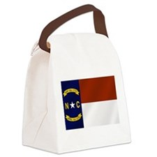 North Carolina Flag Canvas Lunch Bag