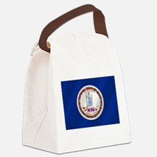 Virginia State Flag Canvas Lunch Bag