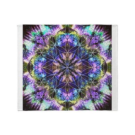 Flower of Life Mandala Throw Blanket