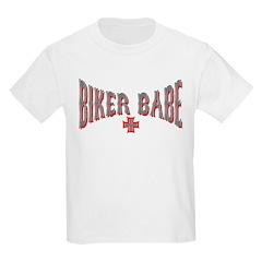 Biker Babe Kids T-Shirt