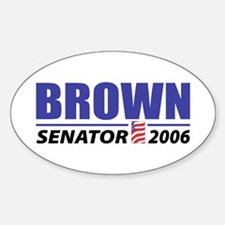 Brown 2006 Oval Decal