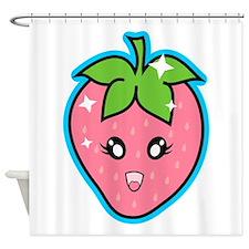 Cute Strawberry Shower Curtain