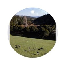 Deer in a Valley Ornament (Round)