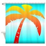 Colorful Palm Tree Shower Curtain