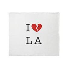 I Hate LA Throw Blanket