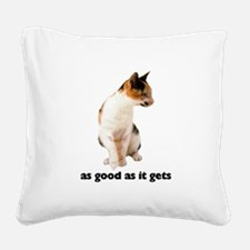 FIN-calico-cat-good.png Square Canvas Pillow