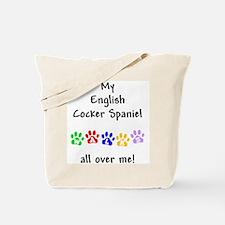 English Cocker Walks Tote Bag