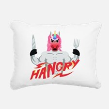 Unicorn Hangry Rectangular Canvas Pillow