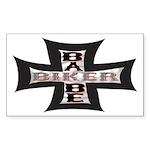 Biker Babe Rectangle Sticker