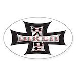Biker Babe Oval Sticker