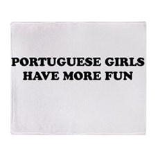 Portuguese Girls.jpg Throw Blanket