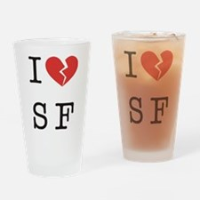 I Hate SF Drinking Glass