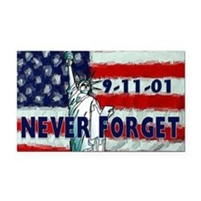 911 Never Forget Rectangle Car Magnet