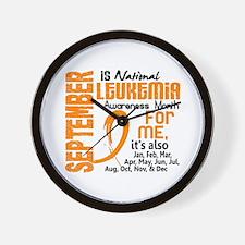 Leukemia Awareness Month Wall Clock