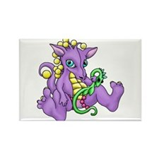 sitting dragon.png Rectangle Magnet