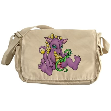 sitting dragon.png Messenger Bag