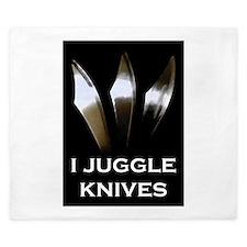 I Juggle Knives King Duvet