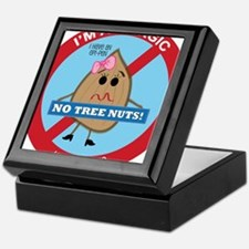 Tree Nut Allergy - Girl Keepsake Box