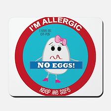 Egg Allergy - Girl Mousepad
