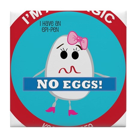 Egg Allergy - Girl Tile Coaster