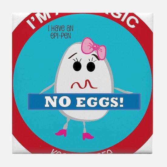 Egg Allergy - Girl Tile Coaster