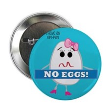"Egg Allergy - Girl 2.25"" Button"