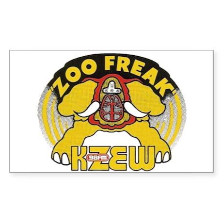 KZEW The Zoo (1975) Sticker (Rectangle)