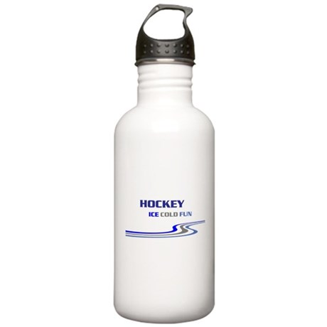 Hockey Ice Cold Fun Stainless Water Bottle 1.0L